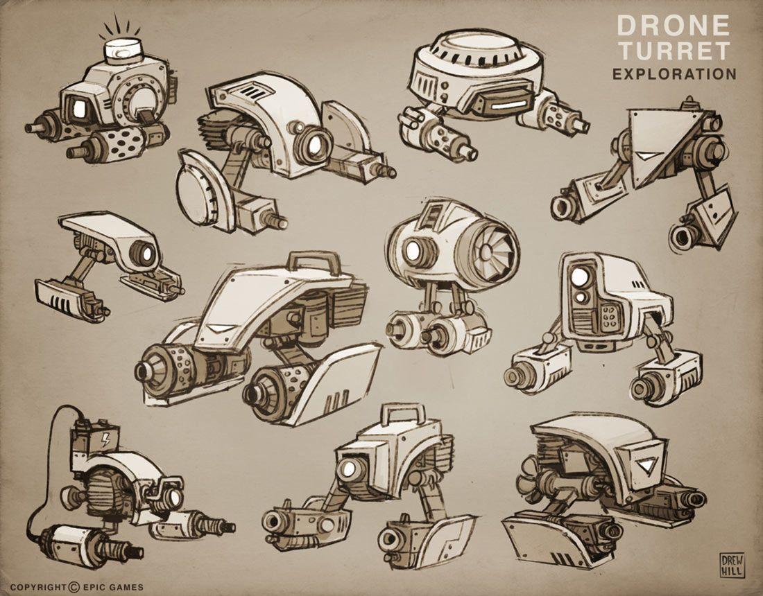 Drone Turret Exploration from Fortnite illustration