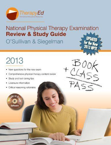 National Physical Therapy Examination Review \ Study Guide 2013 - physical therapy evaluation