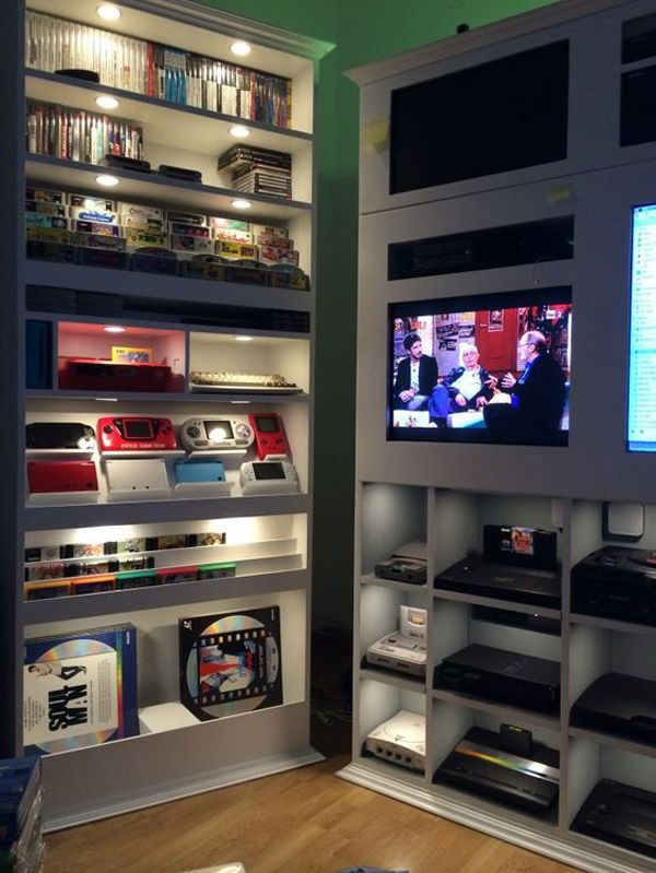 15 Cool Ways To Video Game Controller Storage Gamer Room Video Game Rooms Home