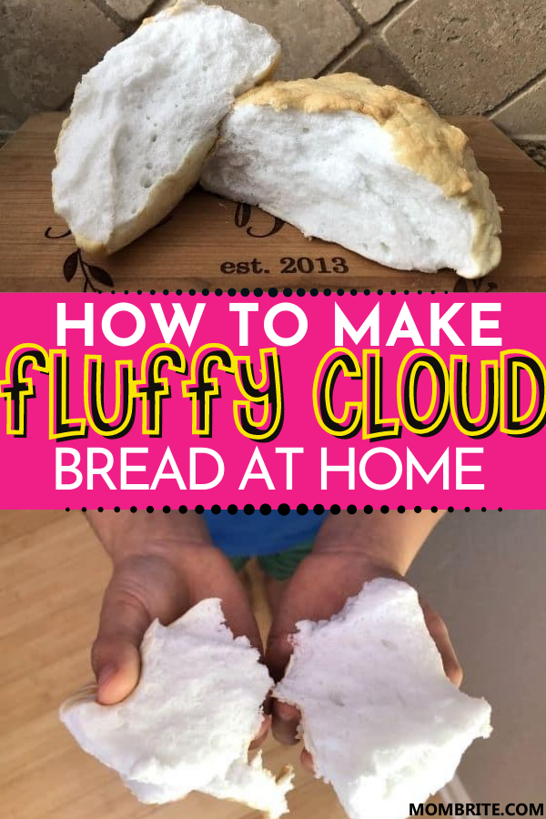 Fluffy 3 Ingredient Cloud Bread Mombrite In 2020 Cloud Bread Picky Toddler Meals Bread