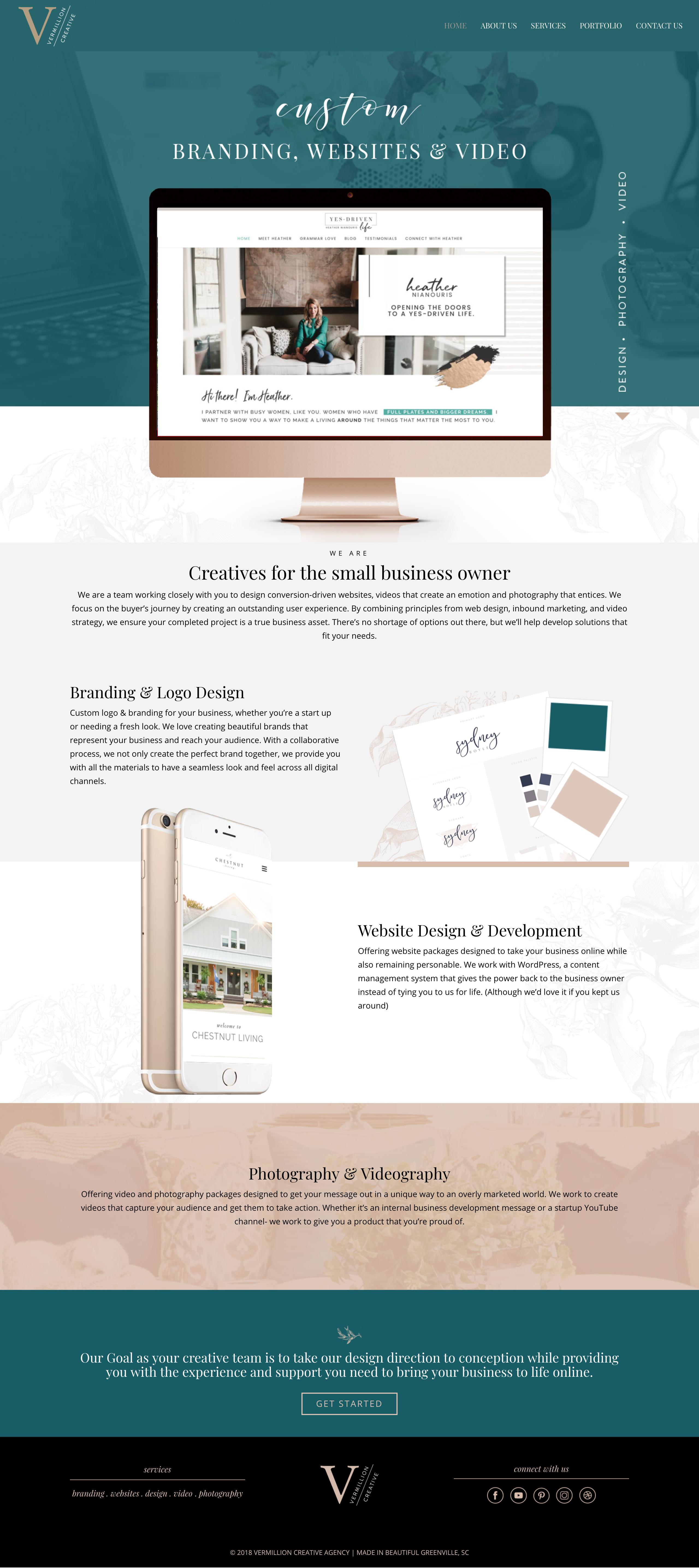 Vermillion Creative Custom Branding Wordpress Websites More Graphic Design Website Branding Website Design Wordpress Website Design