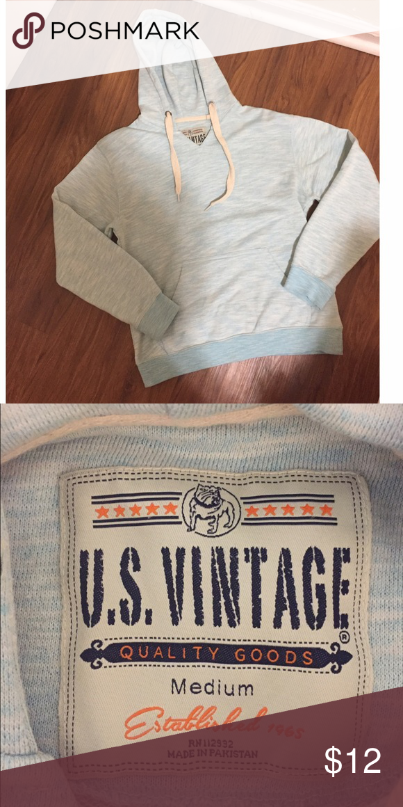 Blue Pullover Comfy Blue Pullover Hoodie Size M. Like new, only worn a couple times! US Vintage Tops Sweatshirts & Hoodies