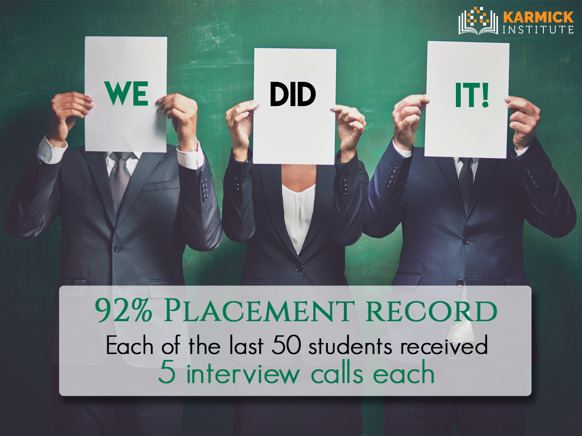 We let our statistics speak! With a placement record of 92% in the last 7 years, we have fulfilled our promise  http://ow.ly/XmG7306w74o