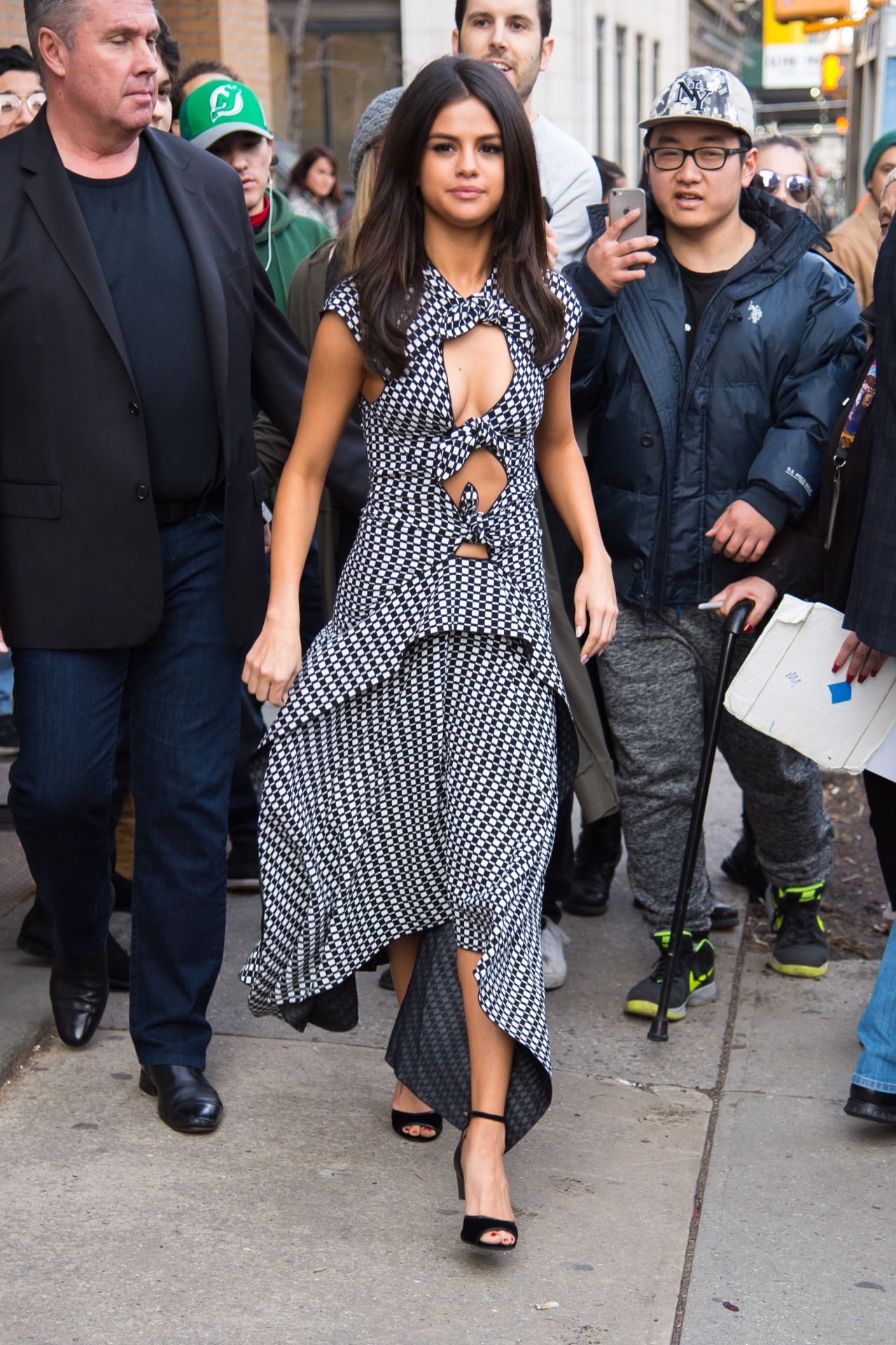 "February 8: [More] Selena leaving a press event for the Netflix Series ""13 Reasons Why"" in New York, NY [HQs]"