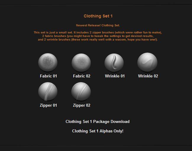 Free Custom Zbrush Brushes - Page 5 | THREED: Tools | Zbrush