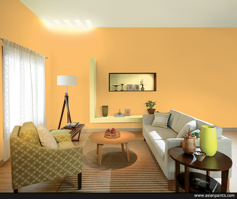 More Than A Space This Living Room Is An Opus Of Pretty Prints And Fun Forms Love This L Yellow Living Room Paint Living Room Color Schemes Living Room Paint