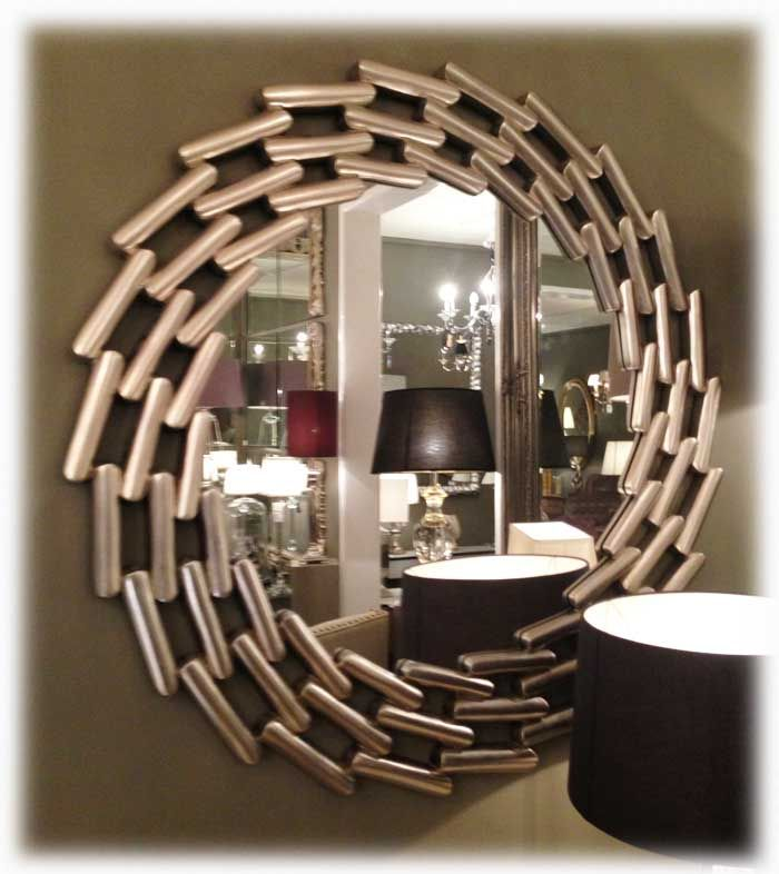Round Mirror - Antique Silver Finish 110cm [EE1160] - �191.76 - Mirrors for Every Interior from Exclusive Mirrors