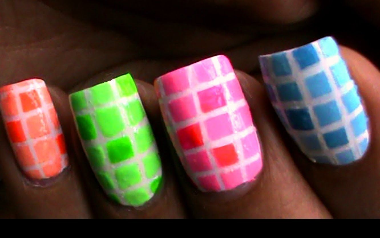 Color Blocking Nail Polish Designs For Beginners To Do At Home Easy
