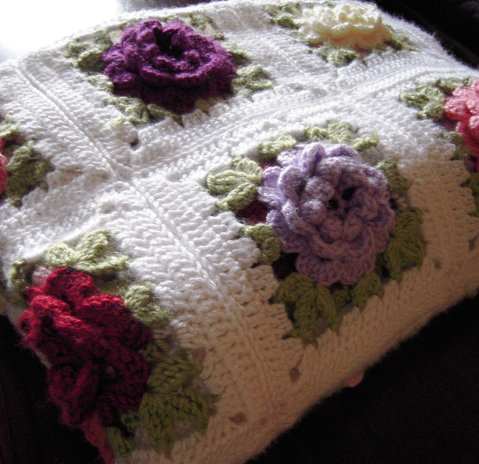 Dorable Crochet Rose Afghan Pattern Photo - Easy Scarf Knitting ...