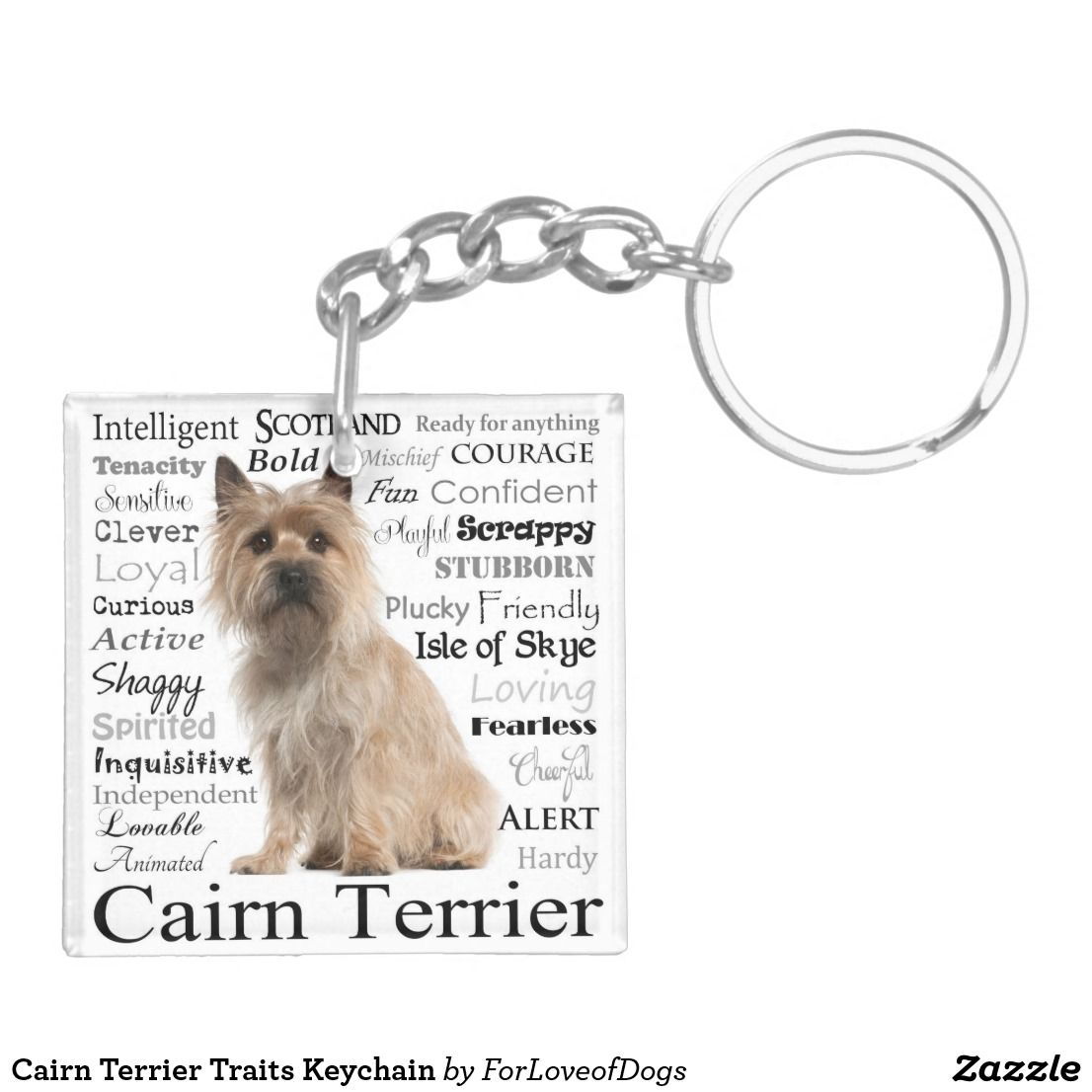 Cairn Terrier Traits Keychain Zazzle Com Cairn Terrier