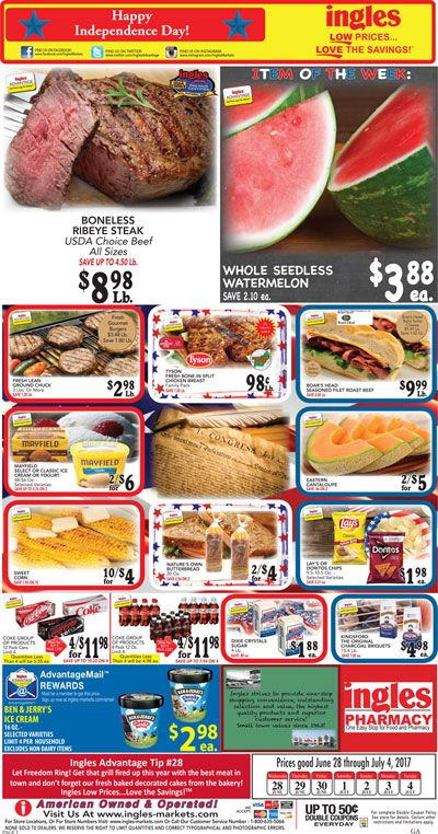 Ingles Weekly ad June 28 – July 4, 2017  Do you know what's