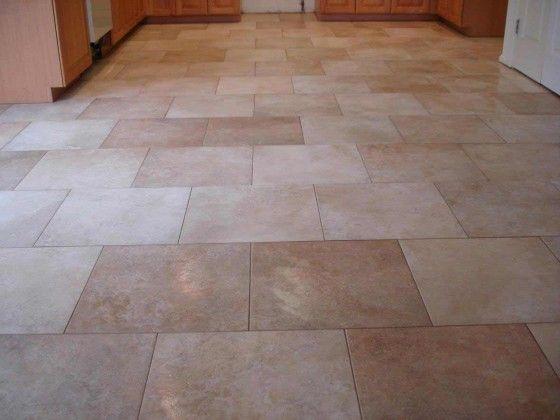 kitchen tile floor with brick pattern | kitchen remodel