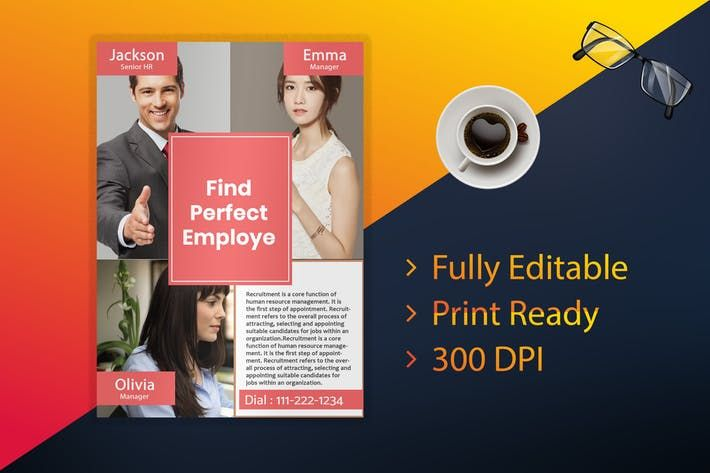 hr employment flyer business flyer print ready poster resume