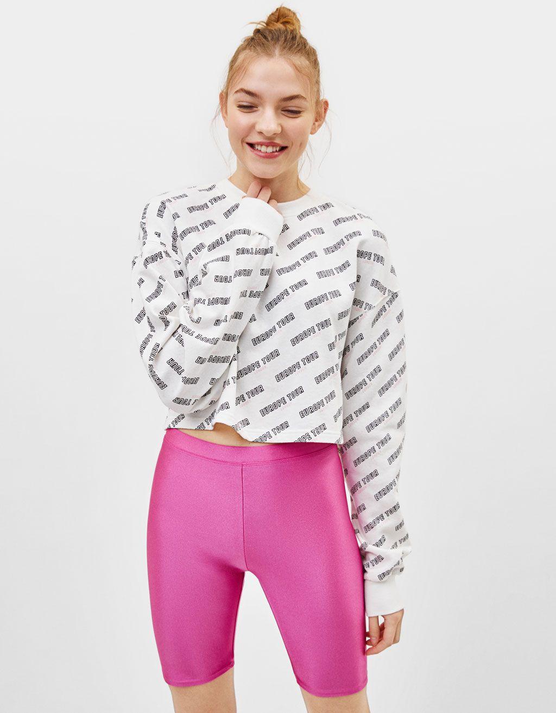 c4c314c7a2 Pantalones de ciclista rosas Bershka primavera verano 2019 ropa de mujer