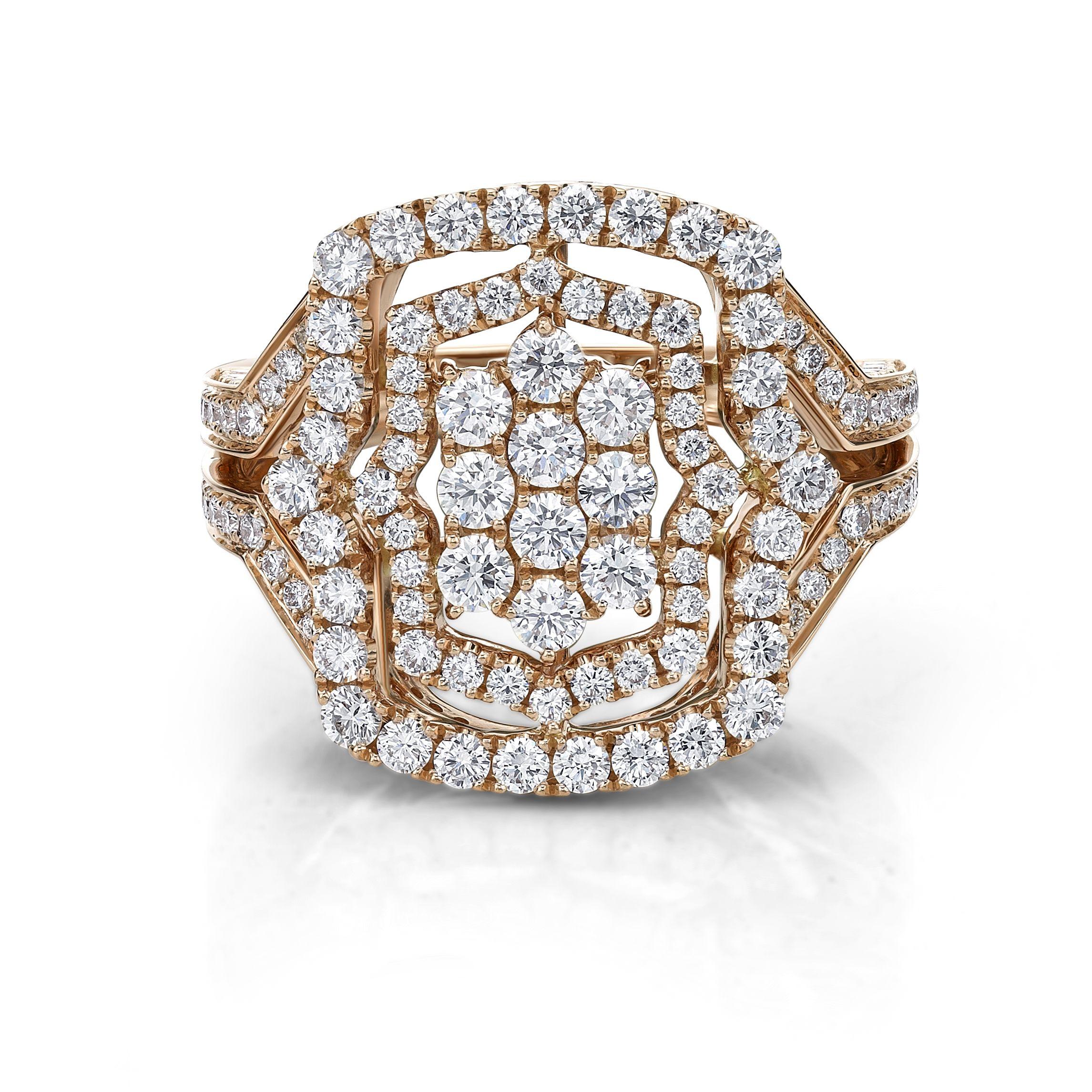 Rose gold diamond dress ring by Diamonds International LoveDI
