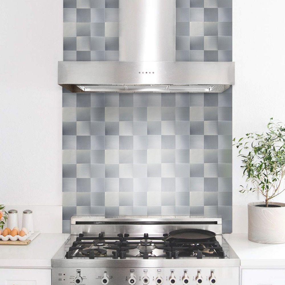 12 X12 Square Peel And Stick Tile Backsplash For Kitchen Bathroom