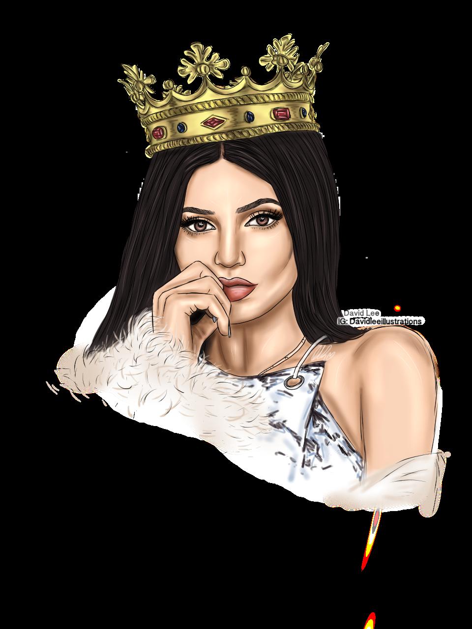 Kylie Jenner By David Lee Illustrations #KylieJenner