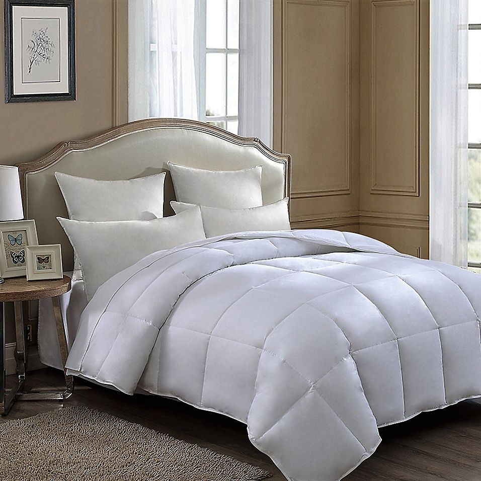 Comfordry Cooling Down Alternative Twin Comforter In White Down