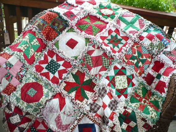 FREE SHIPPING CIJ Beautiful Christmas Rag by SunflowerRagWorks ... : quilt for christmas - Adamdwight.com