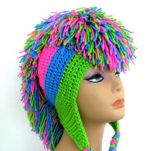 crochet_mohawk_hat_-_neon_green_medium_blue_hot_pink_581b51bc.jpg (500×497)