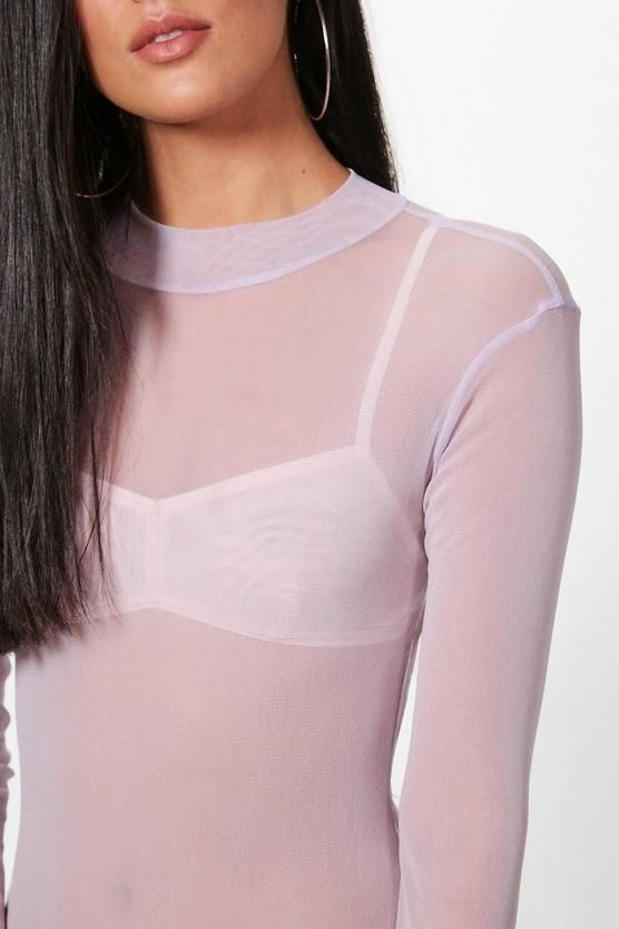 adce88437a78 Rose Turtle Neck All Over Mesh Bodysuit in 2019 | Dresses | Mesh ...