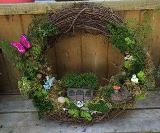 Join Us As We Create A Unique Fairy Garden Wreath For Your Door Or To Use
