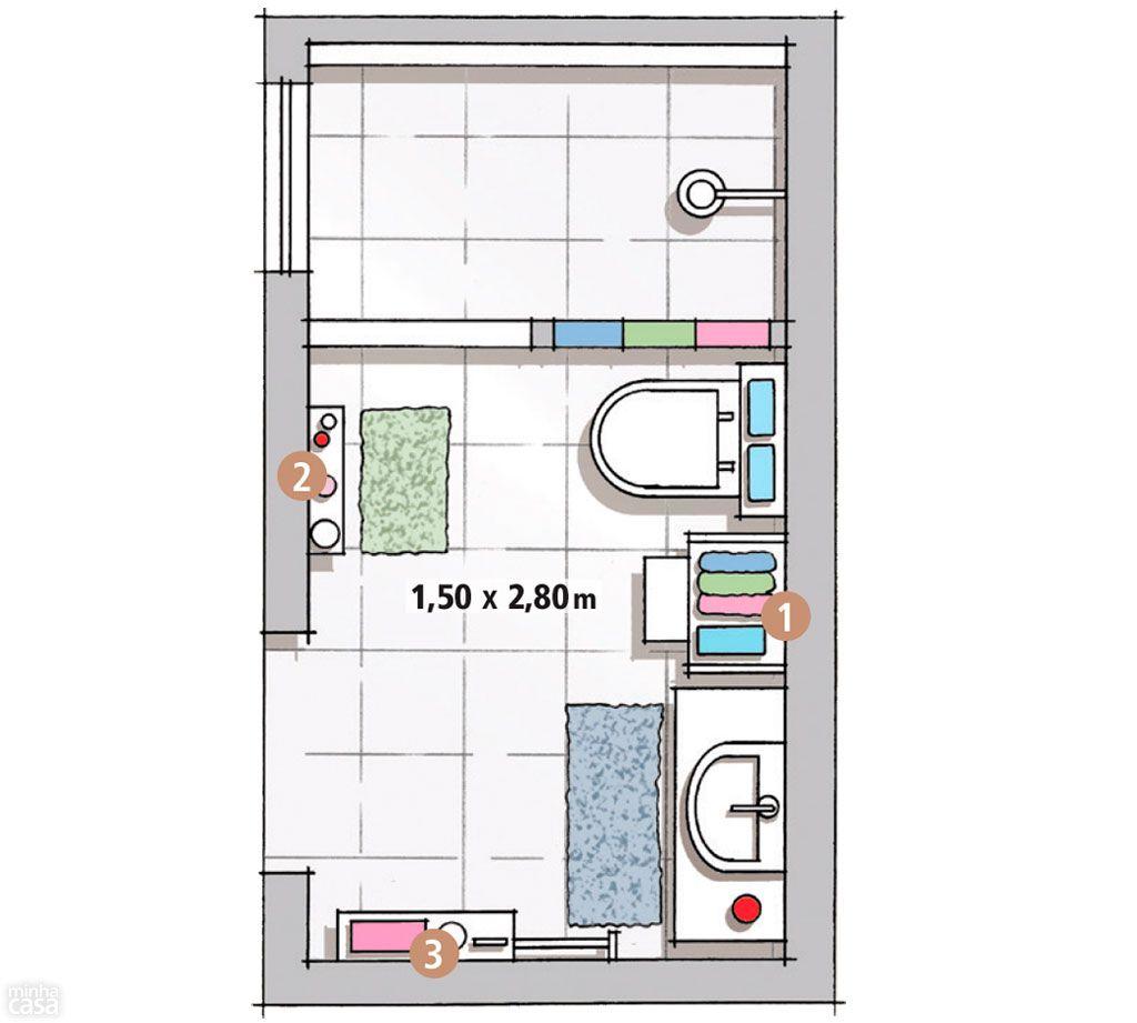 Planos de cuartos de ba o peque os buscar con google for Planos google
