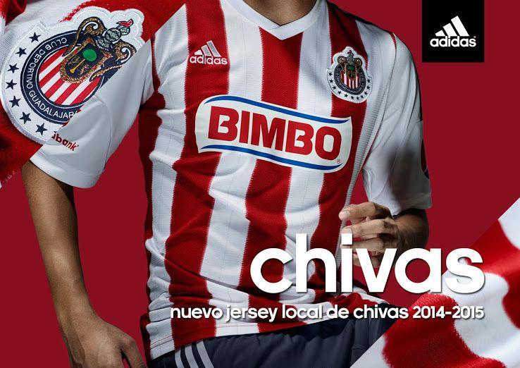 best service 040ba cf5e2 Chivas Guadalajara 14-15 Home Kit Released - Footy Headlines ...