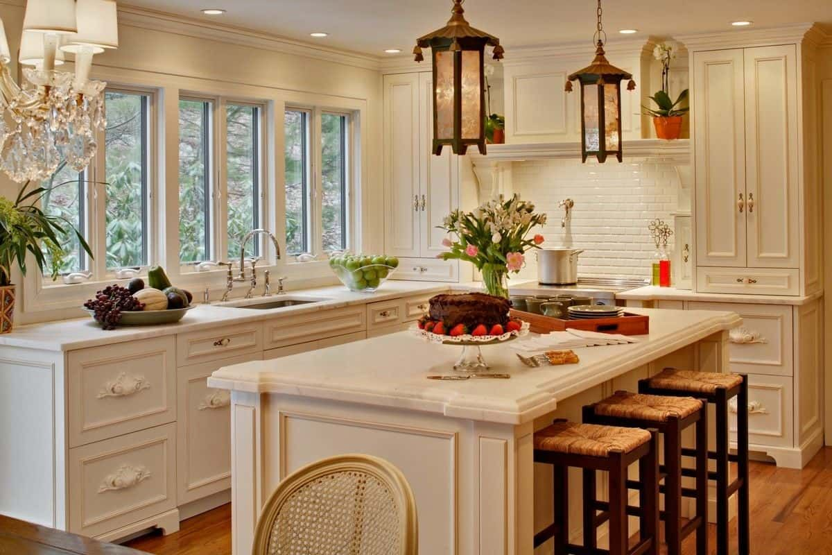 dekorieren sie ihre k che insel einbauk che in 2018 pinterest moderne k che k chenfenster. Black Bedroom Furniture Sets. Home Design Ideas