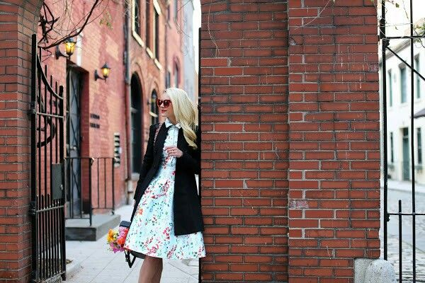 Dress. Coat: Alice and Olivia (old, similar).Shoes. Backpack:Everlane. Sunglasses:Thierry Lasry. Lips:Stila 'Beso'.