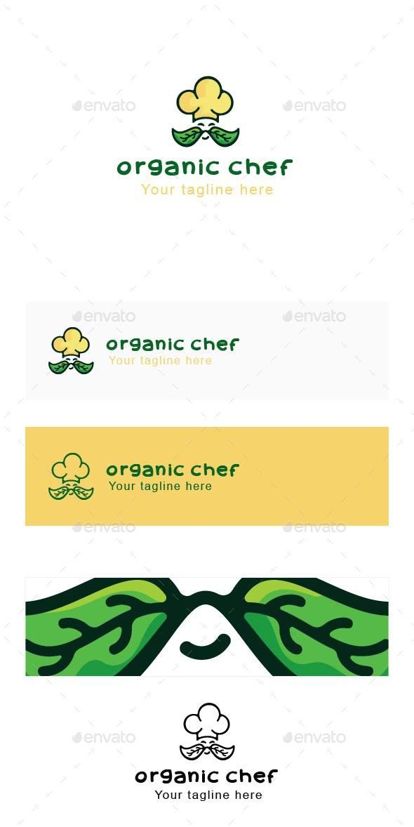 Organic Chef - Professional Cook Stock Logo Template Logo - chef templates