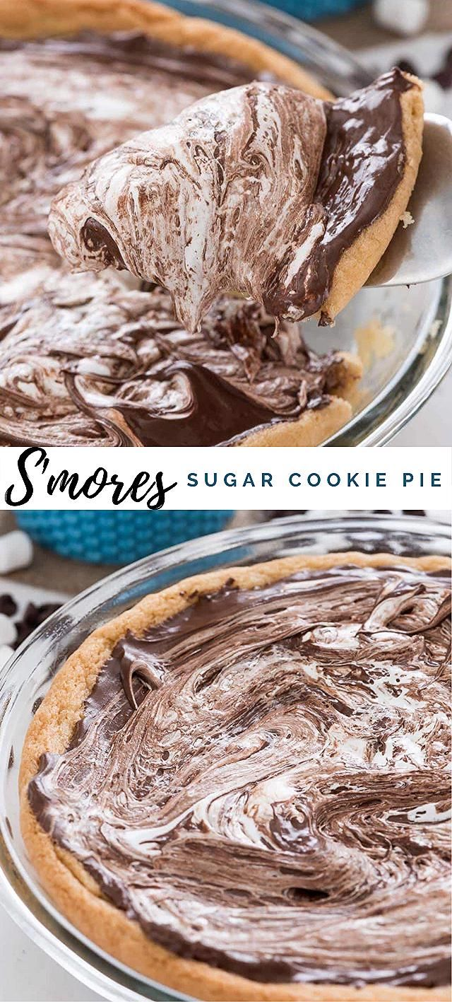 Photo of S'mores Sugar Cookie Pie – Crazy For Crust