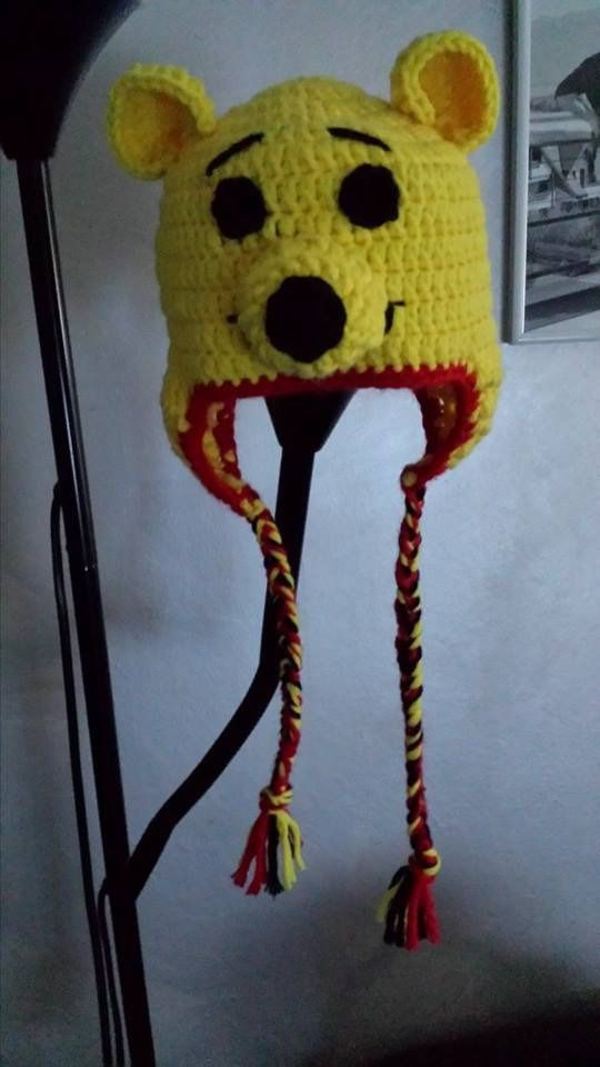 393483c82b43 bonnet bébé winnie   Mode Bébé par little-butterfly   Crochet enfant ...