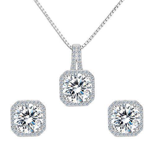 Clearine Women's 925 Sterling Silver Wedding Bridal Cubic Zirconia Infinity Heart Teardrop Pierced Dangle Earrings qXcrROECUZ