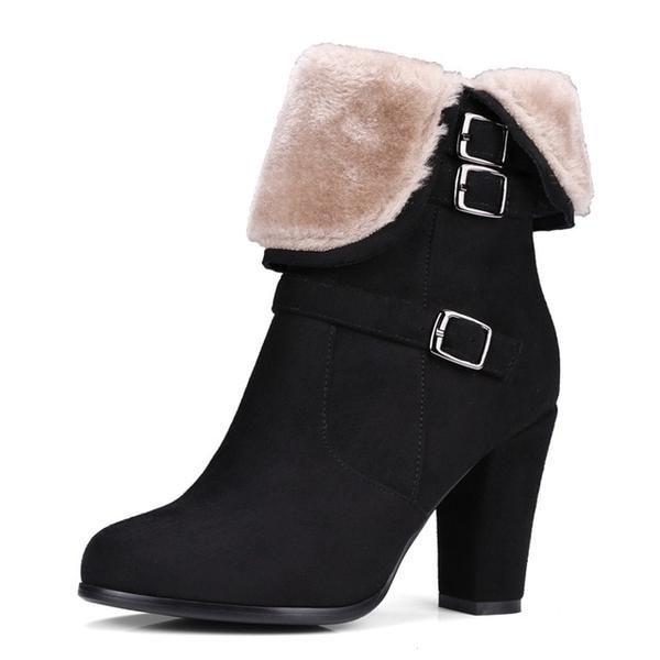 9617c810ec07 Plush Women Warm Ankle Boots in 2018