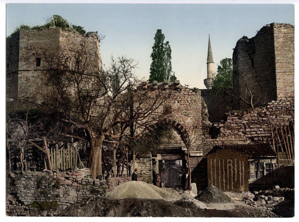 C 1890's Photochrome Turkey Constantinople Sevejn Towers | eBay