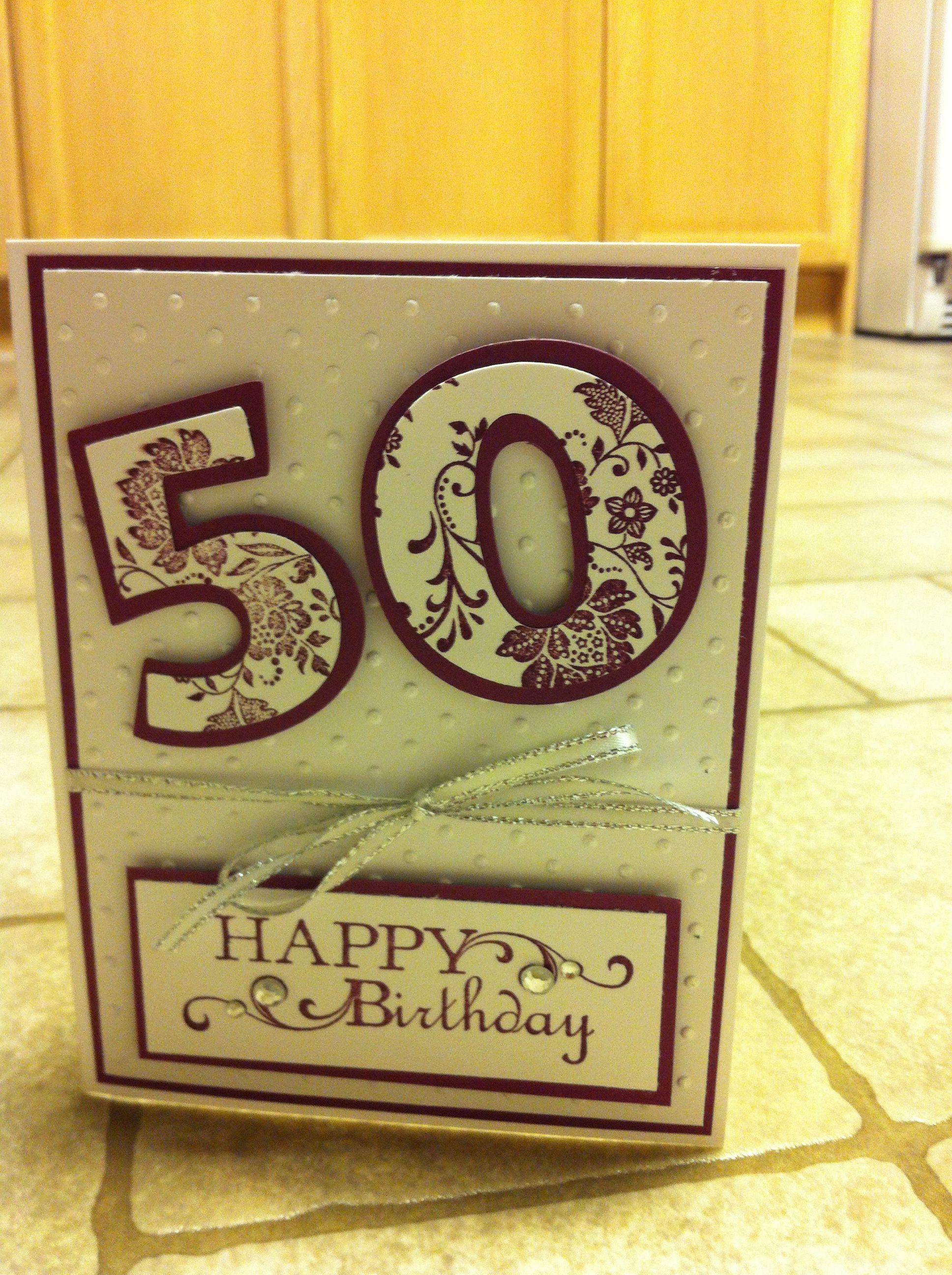50th birthday card  special birthday cards cards