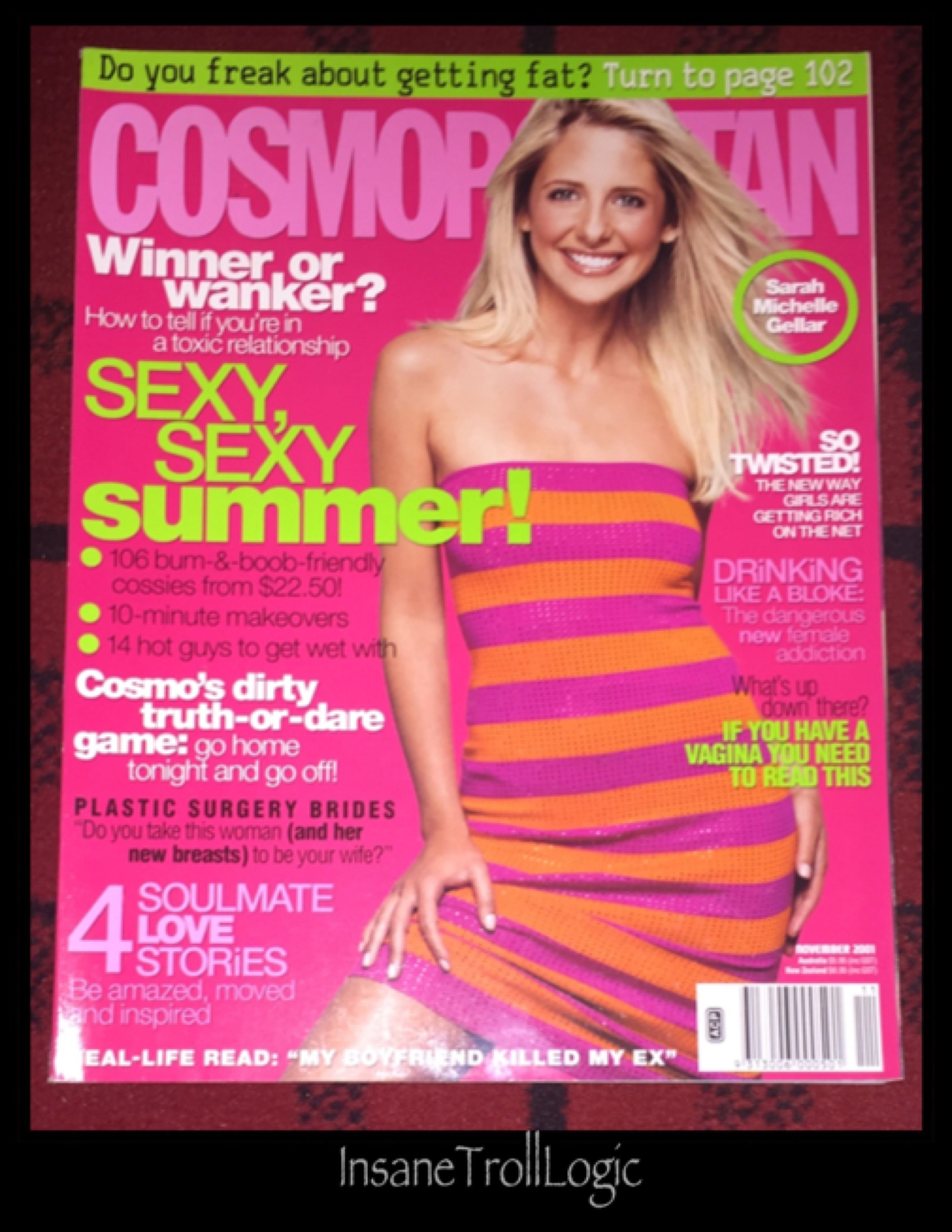 Pin by InsaneTrollLogic on Buffy TVS/Angel Collection - Magazines   Sarah michelle gellar ...