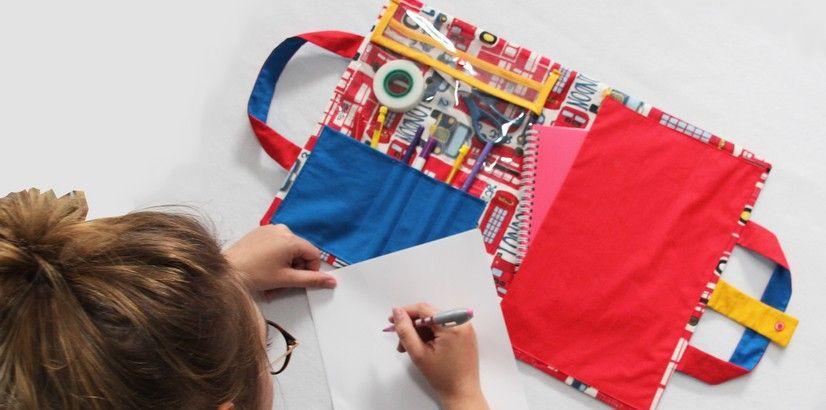 Tuto couture : la pochette à dessin – Je fais moi même