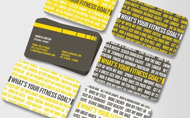 Personal Trainer Business Card Google Search Personal Trainer Modelos De Cartoes De Visita Cartao De Visita