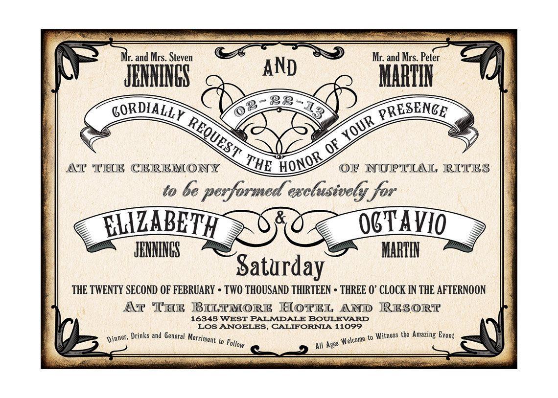 1920 S Style Wedding Invitation Setroaring 20 S Etsy Wedding Invitations Wedding Invitation Sets Glam Wedding Invites