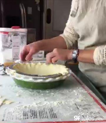 pie crust shields on gluten free pie