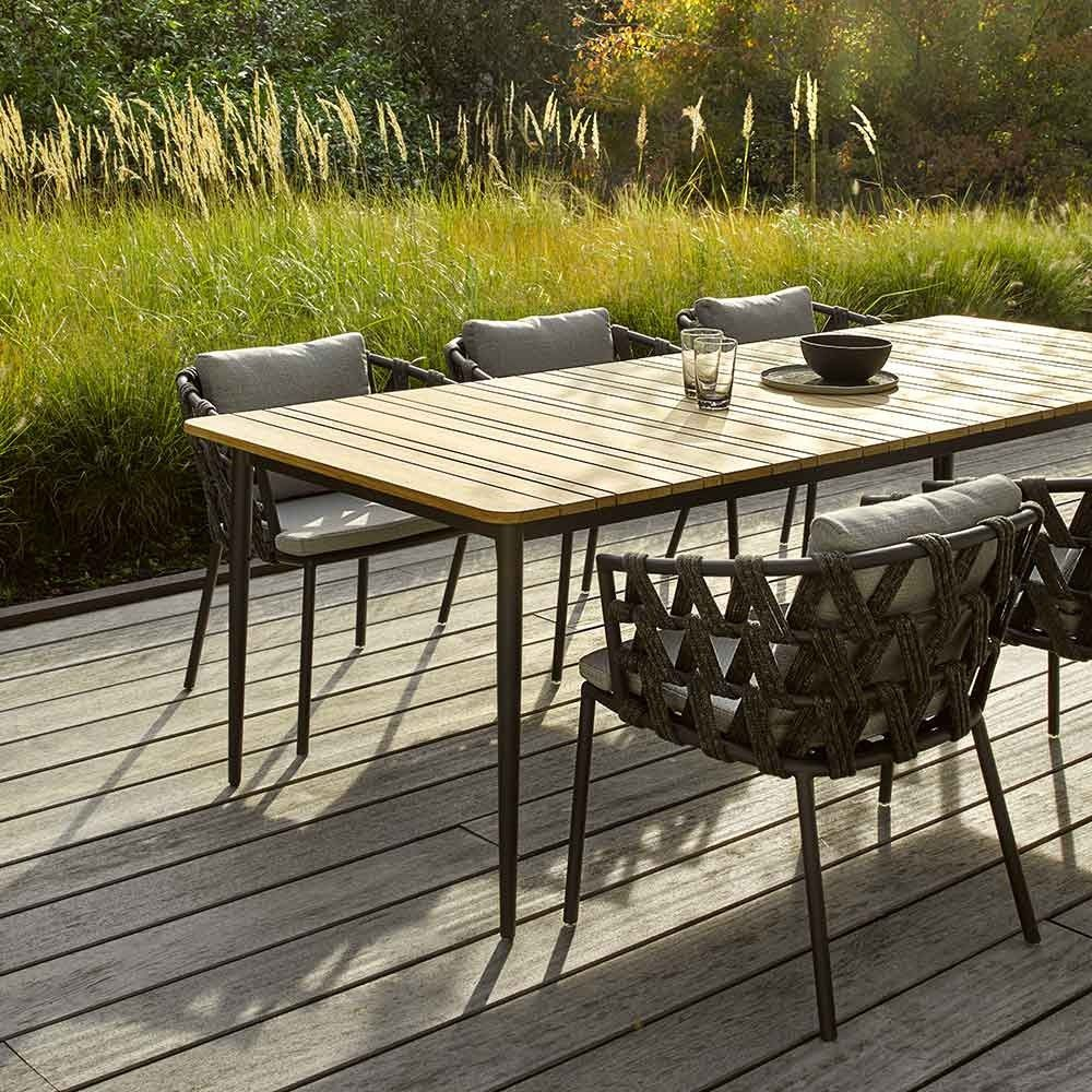Vincent Sheppard Gartentisch Rechteckig Leo Metall Teak Gartentisch Gartentisch Aluminium Teak Gartenmobel