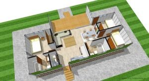 Shipping Container Home Floor Plans sketch up design of two 40ft shipping containers | shipping