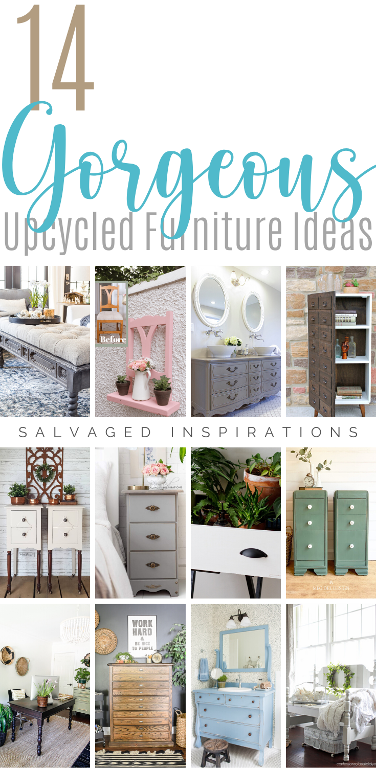 14 Amazing Upcycled Furniture Ideas | Stunning Furniture Flips | Salvaged Inspirations  #siblog #salvagedinspirations #paintedfurniture #furniturepainting #DIYfurniture #furniturepaintingtutorials #howto #furnitureartist #furnitureflip #salvagedfurniture #furnituremakeover #beforeandafterfurnuture #paintedfurnituredieas #dixiebellepaint #redesignwithprima