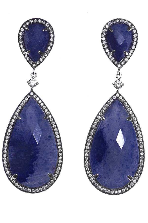 Preciosos pendientes azules de Salvatore Plata, disponibles en www.clfashionable.com
