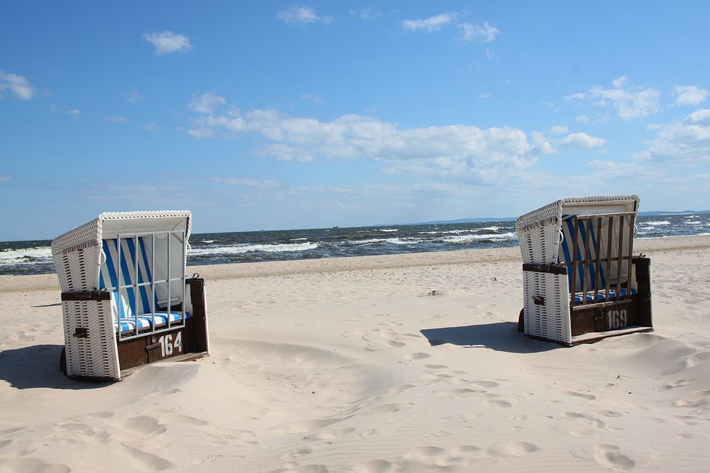 Strandkorb chairs on Usedom Island, Germany. Not only does