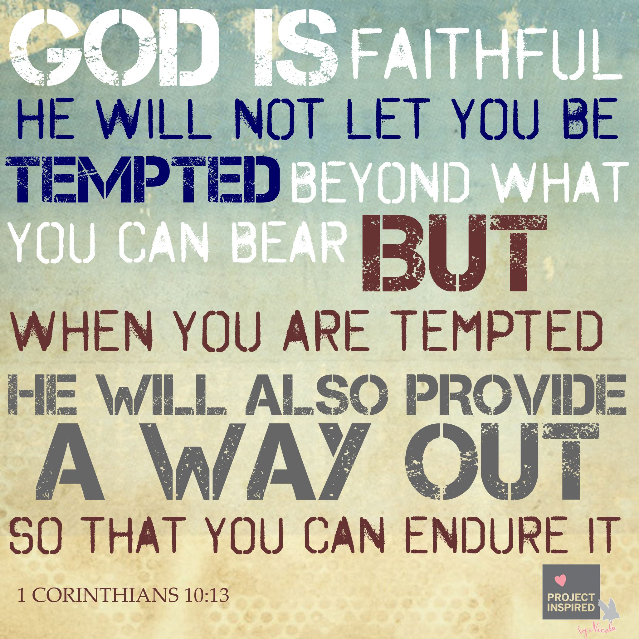 What To Do When You Are Tempted