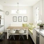Comfortable White Kitchen and Dining Room