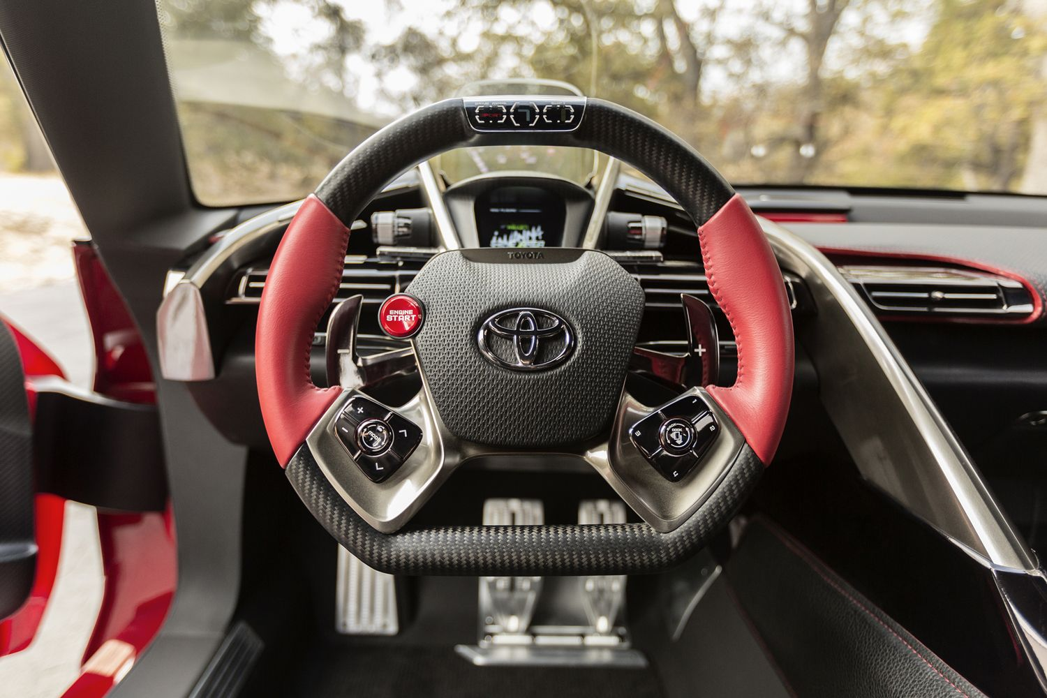 Toyota Supra Ft1 Toyota Ft1 Steering Wheel Detail Concept Cars